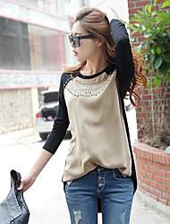 Lang - Dünn - Leger - T-Shirt ( Baumwolle )