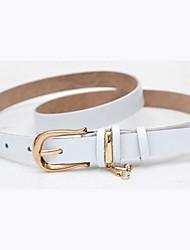 Women's Fashion Wild Leather Skinny Waist Belt