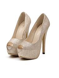 zapatos de las mujeres daisha peep toe de cuero tacón de aguja bombas de zapatos de la boda más colores disponibles