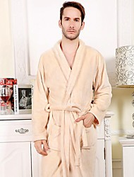 Bath Robe, High-class Beige Garment Bathrobe Soft Thicken