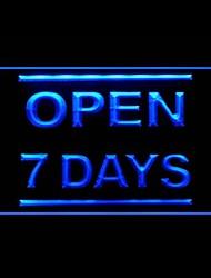 Открыты 7 дней Реклама светодиодные Вход