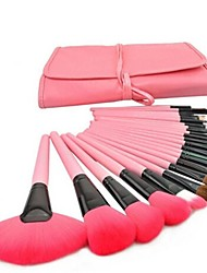 24 Pcs Professional Pink Make-up Brush Set