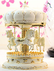 Elegant Carouse Design Perfecrt Details Music Box