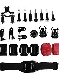 Gopro Accessories Mount / Screw For Gopro Hero 3+ / Gopro 3/2/1 ABS / Nylon / Aluminium Alloy Black