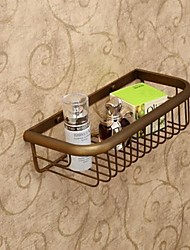 Shower Basket , Antique Polished Brass Wall Mounted