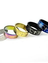 Multicolor Cross Bible Men Titanium Steel Ring
