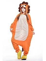 Nouveau Lion Cosplay Polaire adulte Kigurumi pyjama