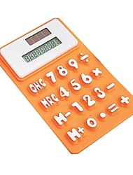 Creative Silicone Calculator Solar Power Magnetic Calculator  (10.5*6.5*0.78)