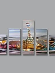 Handgemalte Abstrakt Fünf Panele Leinwand Hang-Ölgemälde For Haus Dekoration