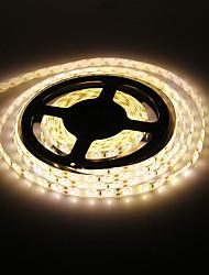 Waterproof luz branca quente 5M 60W 60x5730SMD 7000-8000lm 3000-3500K LED Strip Light (DC12V)