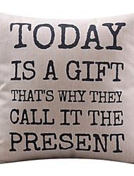 сегодня подарок хлопок / лен декоративные подушки крышки
