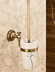 Antique Style Wall Mounted Printed Toilet Brush Holder