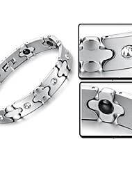 стальные мужчины титановые заботиться магнитный браслет борьбы с усталостью радиационной защиты