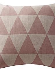 """18 """"double-face linge géométrique de coton d'impression triangled taie d'oreiller décoratif"""