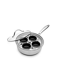 BODEUX® Egg Steamers and Soup Pot Multifunctional Egg Boiler 20cm 304 Stainless Steel Dia 20cm (Dia 7.9inch)