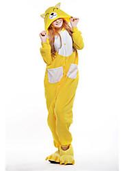 New Cosplay  Yellow Fox Polar Fleece Adult Kigurumi Pajama