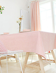"""Novelty Pink Grids Table Cloth,Fabric 51.1""""*15.7"""""""