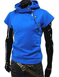 tizeland Männer Kapuzenpullover einfarbig Kurzarm-T-Shirt