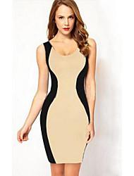 Женская Оболочка рукавов Bodycon сексуальных Backless платье