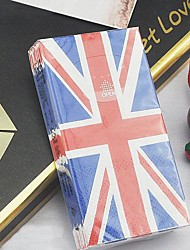 "British Union Jack Style Tissue Toilet Napkin Paper,100% virgin pulp 4""x2.2""x1"""