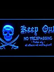 Pirati Keep Out Pubblicità Light LED Sign