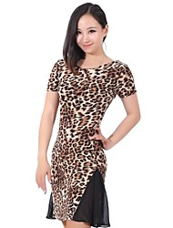 Latin Dance Dresses Women's Training Chiffon / Chinlon