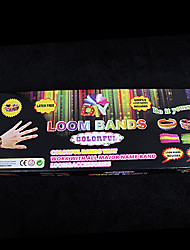 BaoGuang®For Rainbow Color Loom Loom Bands Set (600pcs Bands,1 Package Clips ,1 Hook,1 Looms)