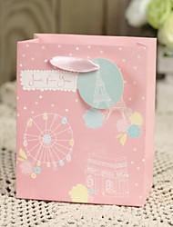 Flower Design Spring Card Paper Favor Welcome Bag-Set of 6