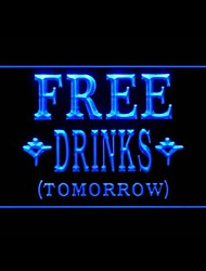 Free Drinks Tomorrow Promotion Green Blue Red White Orange Purple Yellow Advertising LED Light Sign