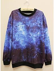 Men's Fashion 3D Print Long Sleeve Leisure Sweater