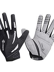 LAMBDA Black Breathable Mesh Anti-skid Full Finger Cycling Gloves