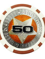 $ 50 pentagramme abs mahjong puces jouets de divertissement