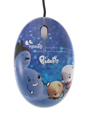 O boneco de neve e Baba Pig Mini Color Printing USB mouse óptico com fio