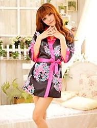 Woman's Silk Satin Sexy Kimono Uniforms
