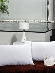 shuian® Consolador retangular saudável compressão ventilação pluma de veludo travesseiro antibacteriano