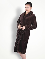 Bath Robe, High-class Elegant Dark Coffee Garment Bathrobe Thicken