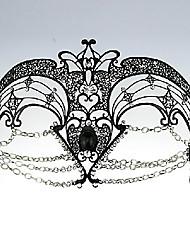 Hölle Engel Stil mit Kette Black Metal Halloween Masquerade Mask