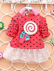 Girl's Cotton Dress , Spring/Fall Long Sleeve