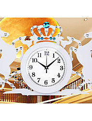 """12.8 """"современный стиль две лошади проектировать деревянные настенные часы"""