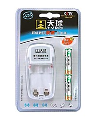 TMMQ 101 Charger for 2pcs AA / AAA Ni-MH / Ni-Cd Rechargeable Batteries (Included 2xAAA)