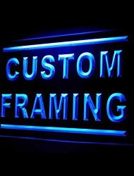 Custom Framing Advertising LED Light Sign