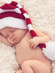 Children's Pure Manual Weaving Baby Long Tail Cap Baby Photo Props