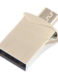 Mini Metal Estilo 16GB USB / Micro USB OTG Flash Drive