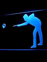 crémaillère snooker billard 8 publicité ballon conduit de lumière de signe