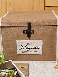 Multi-function Folded Cloth Art Jute Clothes Storage Boxes (Size :Medium)