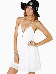 BLK V Correa de cuello del color sólido del vestido atractivo del halter