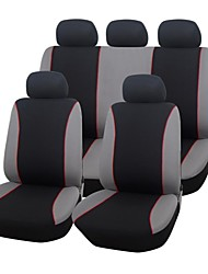 9 PCS Set Car Seat Covers Universal Fit Material Polyester Simple Design Full Seat