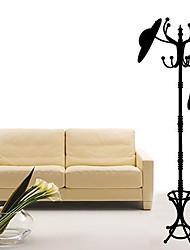 Createforlife ® roupa preta Árvore crianças berçário da parede da sala de adesivos de parede decalques de arte
