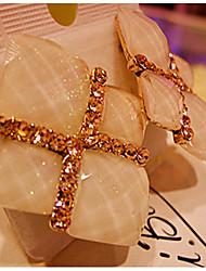 miki piedra preciosa geométrica prisionero del oído del diamante