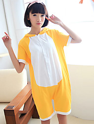 Kigurumi Pyjamas Ours / Raton laveur Collant/Combinaison Halloween Pyjamas Animale Jaune Mosaïque Coton Kigurumi UnisexeHalloween /